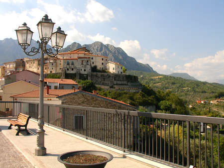 molise:    View of village in the Mountains