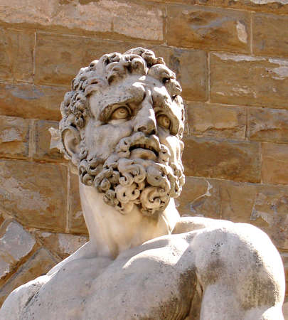 Bust of Hercules in Florence Фото со стока