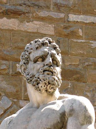 플로렌스 Bandinelli의 Hercule의 흉상 스톡 콘텐츠