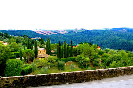 landscape in Tuscany Stockfoto