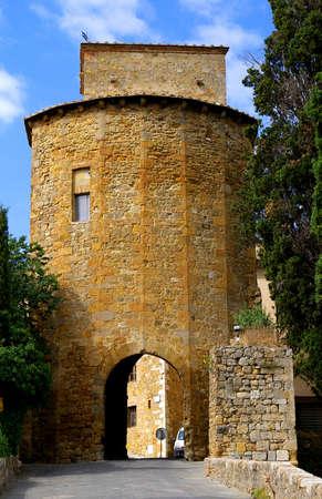montepulciano: door for  entrence in Montepulciano