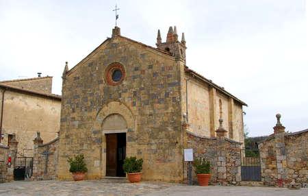 Chapel in village of Montereggiani in Tuscany