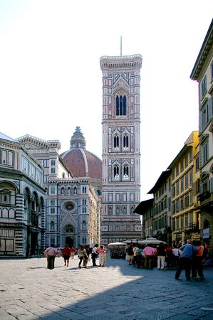 The duomo in Florence with the campanile Stok Fotoğraf