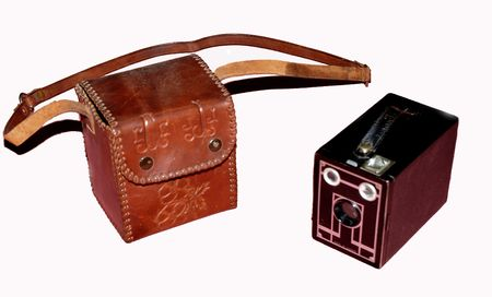 encient camera with case