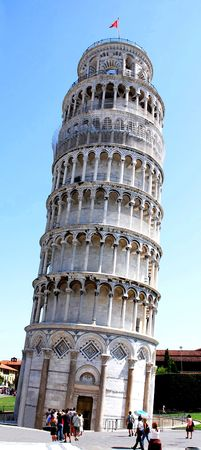 leaning tower in Pisa 版權商用圖片