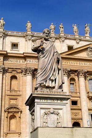 Statue of Pie IX in Roma Stok Fotoğraf