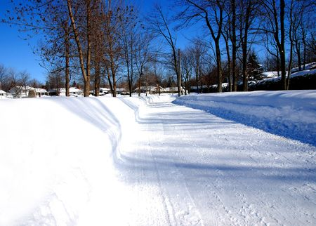 the track on the snow