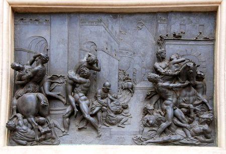 detail of the door of Batistery of duomo in Floren ce
