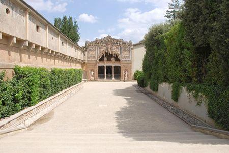cave in boboligarden in Florence builded by buontalenti in 1583 Stok Fotoğraf