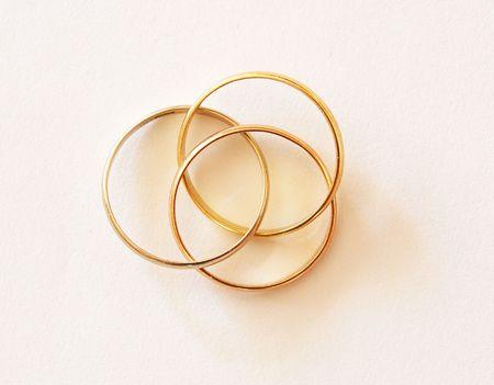 wedding rings insearable Stok Fotoğraf