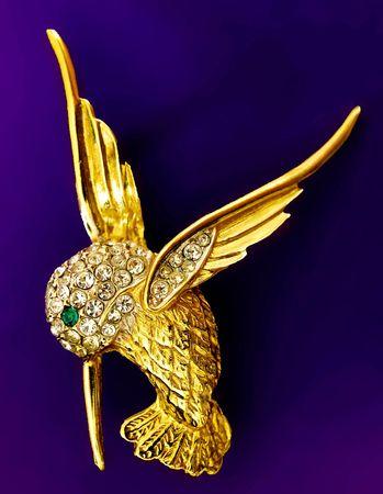 Gouden hummingbird