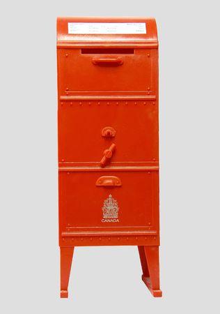 moneybox on mailbox Stok Fotoğraf