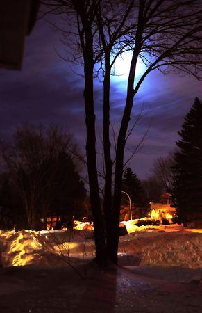 the moon on snow