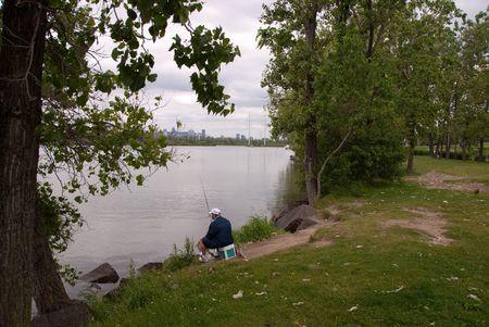 peacefull fisherman Stok Fotoğraf