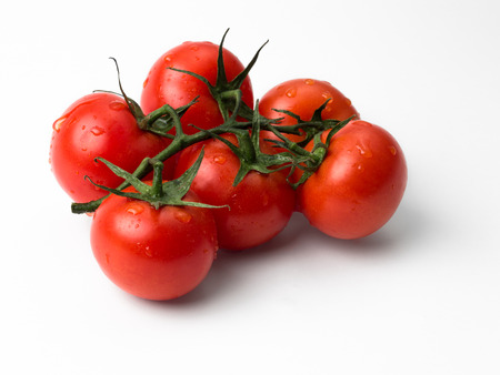 exempted: Exempted tomatoes on white