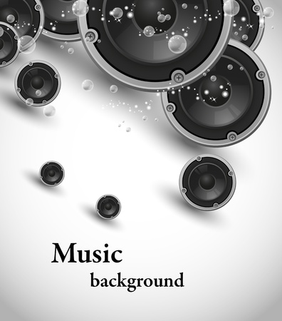 abstract speakers music design  Vector