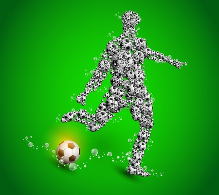 football poster player sport design Stock Vector - 11074497