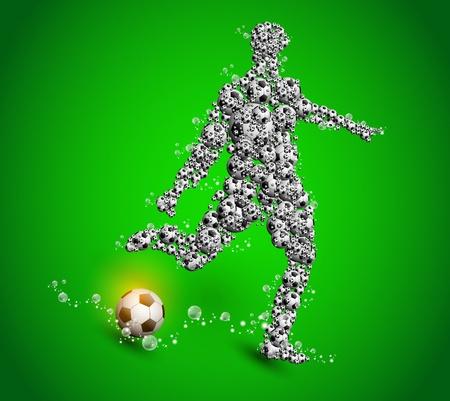 football poster player sport design Stock Vector - 11074497
