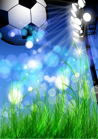 banni�re football: conception flyer de football Illustration