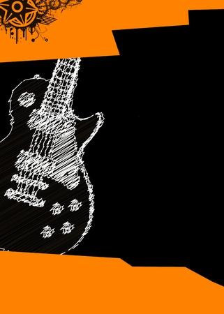 concerto rock: vector cartel de la m�sica con la guitarra Vectores
