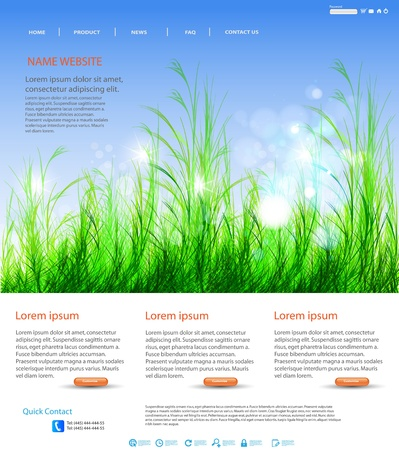 website header: Web page layout design