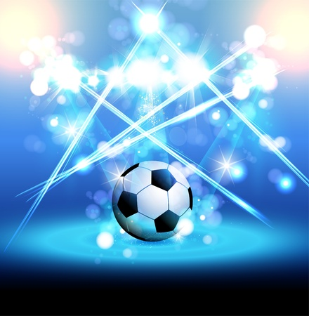 football light poster, easy editable, you can change ball your product Vector