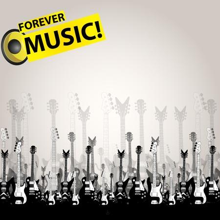 Music audio concept template Vector