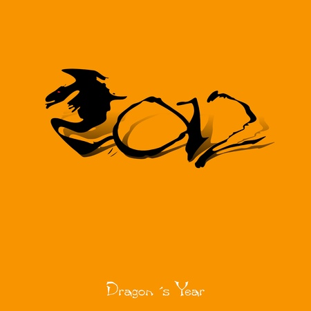 2012, Chinese Year of Dragon  Vector