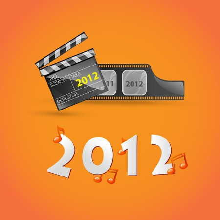 New Year movie greeting card  Vector