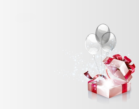 Open explore gift background  Vector