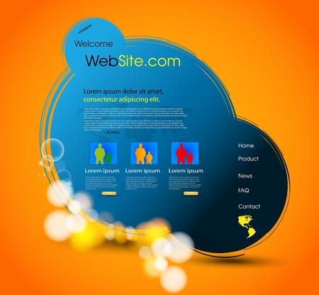 web page template design, easy editable Vector