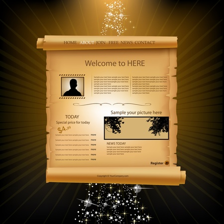 Web site paper design template Stock Vector - 11243716