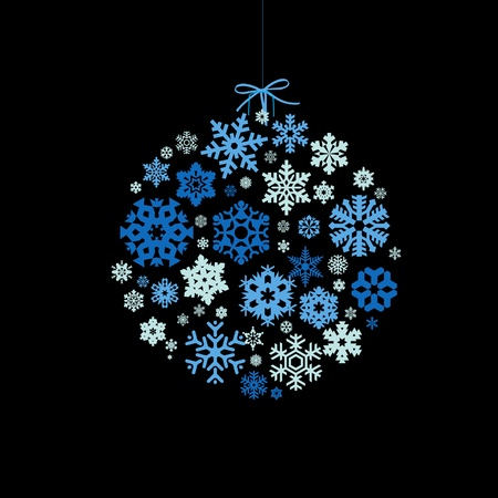 _СНЕЖИНКИ 11595962-christmas-ball-with-snowflakes-on-a-black-background