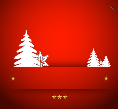 Vector christmas snowflake and simple tree Illustration