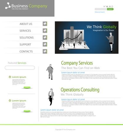 Business office website concept Stock Vector - 11968814