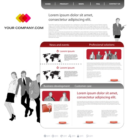 Business template office website Stock Vector - 11968902