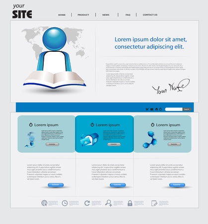 website header: Business website template