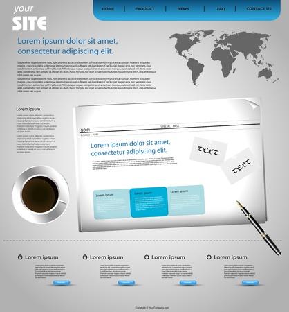 corporate web design template Vector