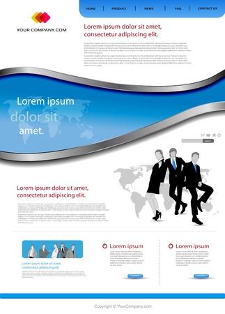 Office website template Stock Vector - 12061360