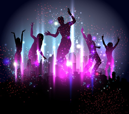 hip hop dance: Party Background Illustration Illustration