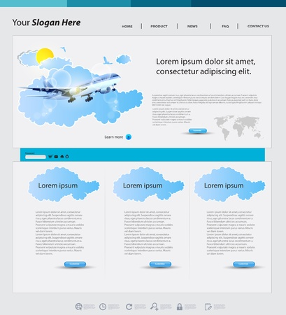 Travel web design template Vector