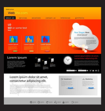 company profile: web design marketing template Illustration