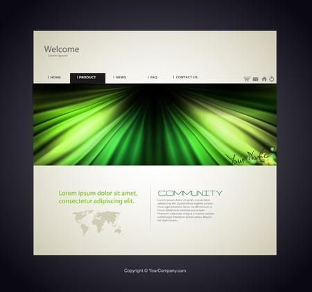 Web site design template, modern design Stock Vector - 12061332