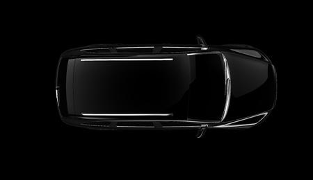 prototipo: Negro de autos deportivos Foto de archivo