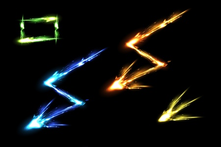 streak lightning: Light neon decorative effects