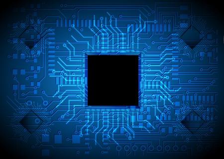 electronic elements: tecnologia sfondo, progettazione di chip Vettoriali
