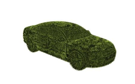 hybrid car: grass car concept alternative power Stock Photo