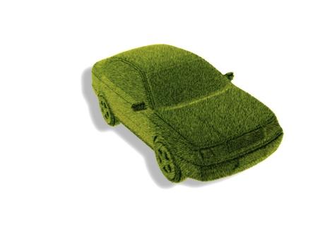 nonpolluting: Grass green concept car