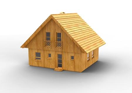 house wood design Computer render photo