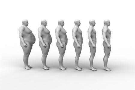 hombre flaco: Las dietas del hombre, el dise�o f�sico Foto de archivo